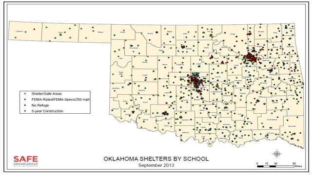 Report Says Thousands Of Oklahoma Students, Teachers Unprotected From Tornadoes