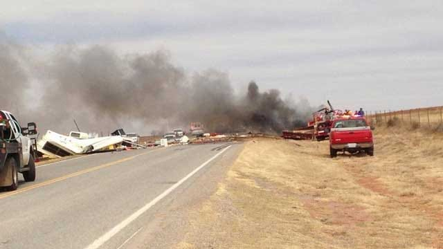 2 Killed As Pickup Catches Fire After Colliding With Semi Near Cheyenne