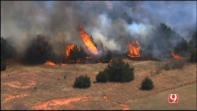 Fire Crews Contain Grass Fire Near Luther