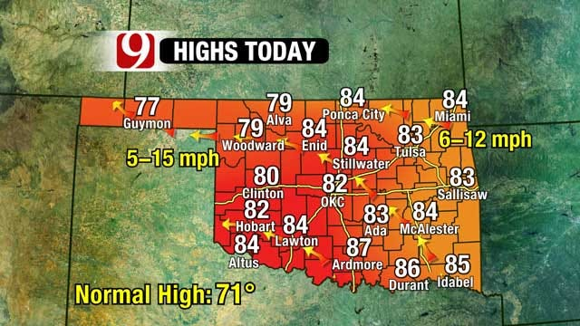 Chances Of Severe Storms Increase On Sunday In Oklahoma