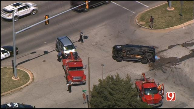 One Injured In Two-Vehicle Collision In NW OKC