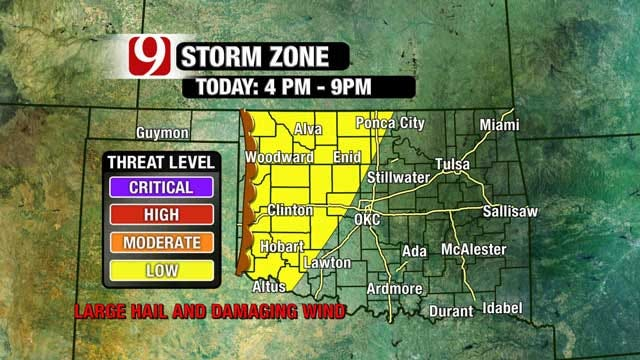 Severe Weather Chances Tomorrow, Snow Possible Monday