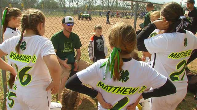 Ada's Lucky Ladies Softball Team Brings Church To The Ballpark