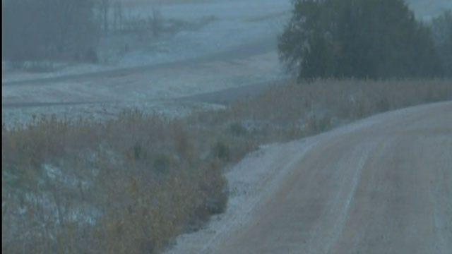Snow Falls Across Parts Of Oklahoma Monday Morning