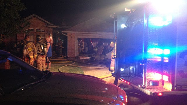 Fast Moving Fire Destroys Edmond Home