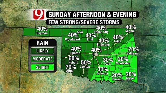 Light Showers, Storms Expected Easter Sunday