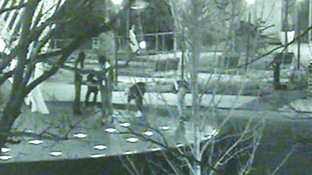 Caught On Camera: Vandals Spray Graffiti At Myriad Gardens