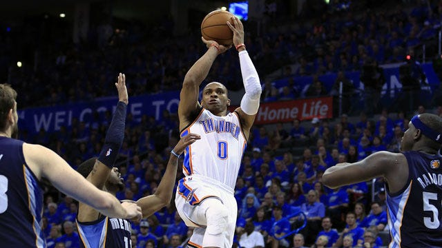 Thunder 100, Grizzlies 86: By The Numbers
