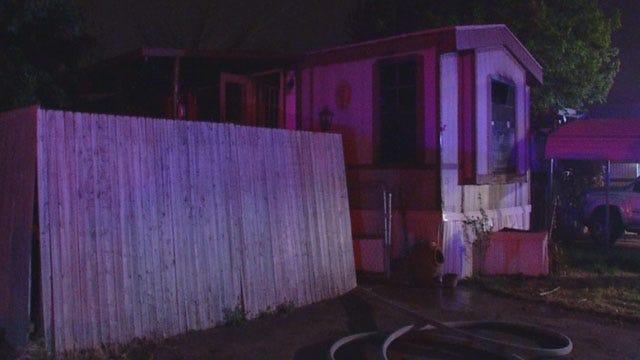 Fire Damages Southeast OKC Mobile Home
