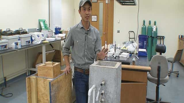 OSU Graduate Student Works On Water Filtration System