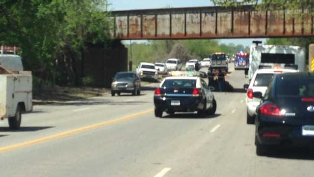Semi Carrying Crushed Cars Clips Bridge In NE OKC