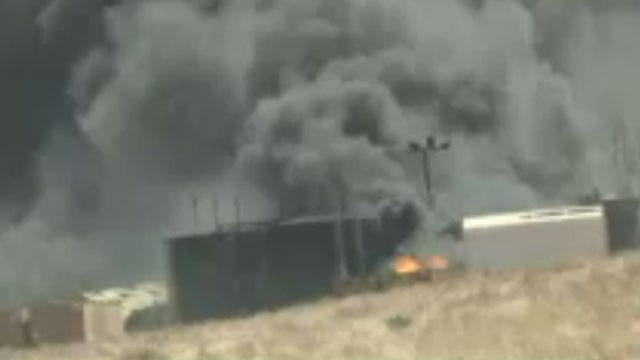 Crews Battle Tank Battery Fire At Woodward Industrial Facility