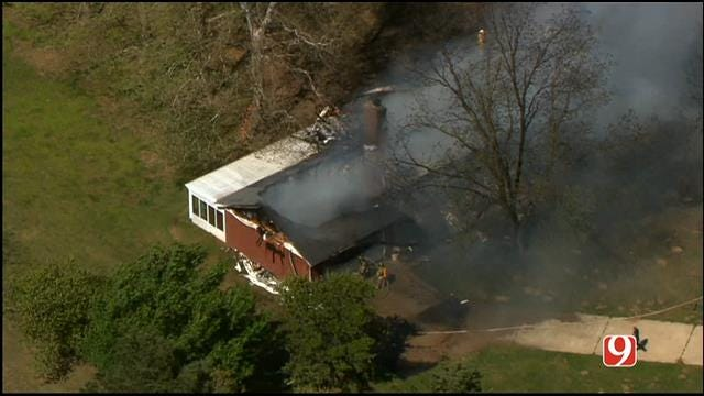 Large Fire Consumes Choctaw Home
