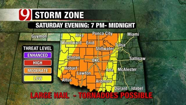 Risk Of Severe Weather This Weekend In Oklahoma
