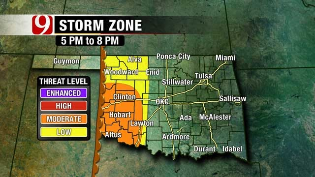Severe Weather Moves Across Oklahoma Saturday Evening, Overnight