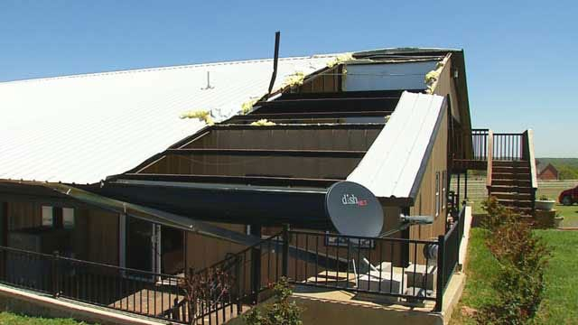 High Winds Damage Homes, Structures, Trees in Guthrie