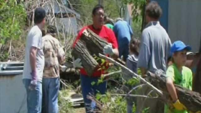 Quapaw Tornado Cleanup Underway