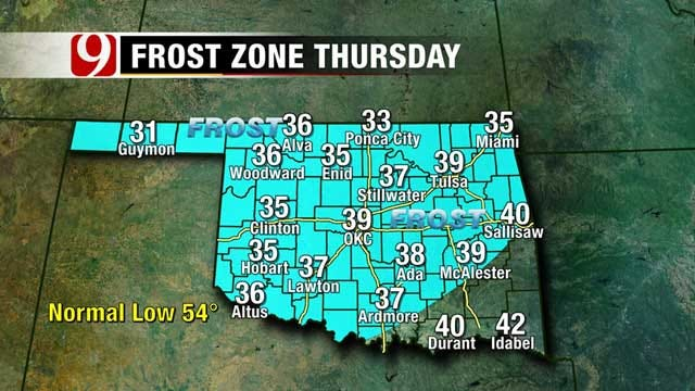 Below Average Temperatures Create Frost Thursday