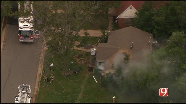 Crews Extinguish House Fire In NE OKC
