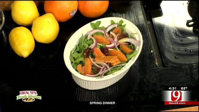 Fresh Greens and Orange Salad