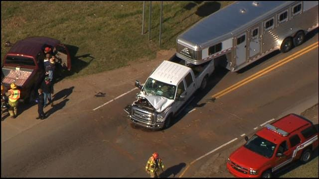 Injuries Reported In Two-Vehicle Crash North Of Edmond