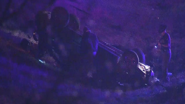Three Injured In Rollover Crash On I-40 In SE OKC
