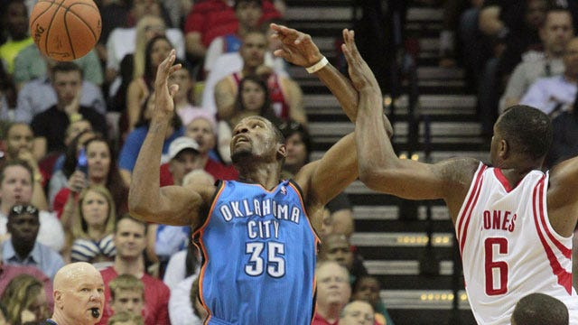 Durant's Streak Continues, But Thunder Falls To Houston
