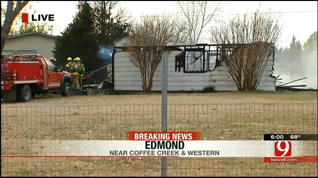 Fire Burns Up Outbuilding In Edmond