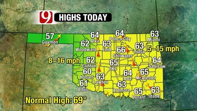Weekend Rain Chances, Temperatures Rise Midweek
