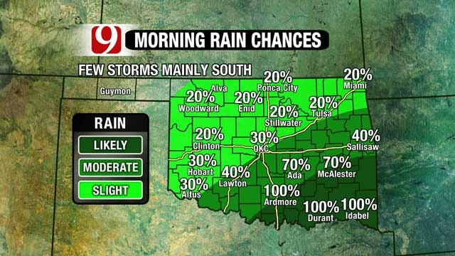 High Rain Chances Today, Fire Danger Returns Midweek