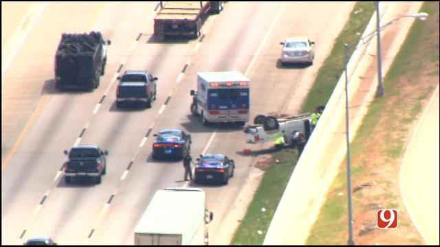 Wrong Way Driver Causes Rollover Accident In SE OKC