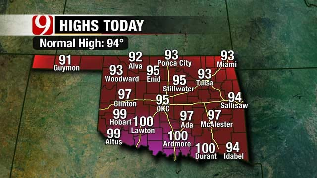 Chance For Scattered Showers, Storms Across Oklahoma