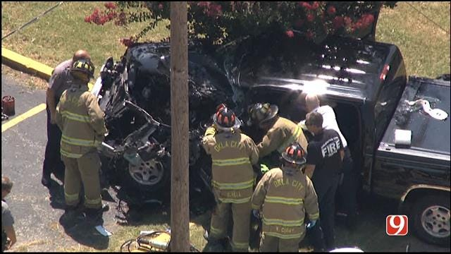 Crews Free Driver Trapped Following Accident In South OKC