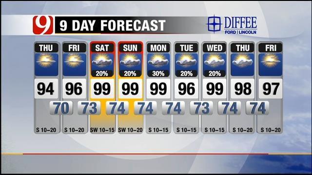 Sunny, Hot, More Humid On Thursday In Oklahoma
