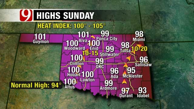 Big-Time Summer Heat Returns To Oklahoma This Weekend