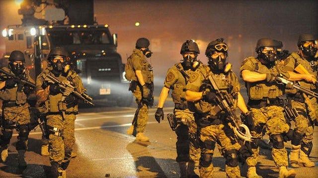 Police, Protesters Clash Anew In Ferguson, Missouri
