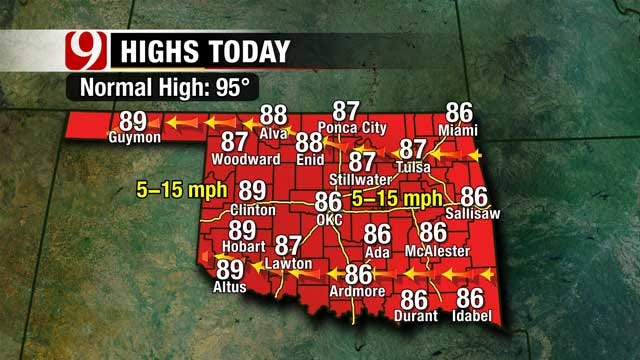 Highs Below Normal For First Weekend Of August