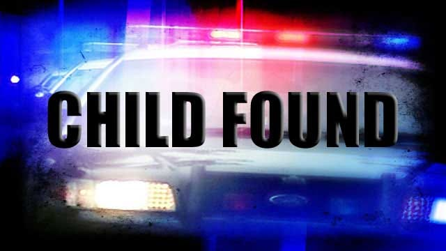 Missing Cushing Child Found Safe
