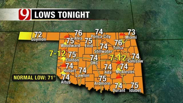 High Temps Remain In Oklahoma, But Change Is On The Way