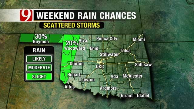 Cold Front, Storm Chances Move Into Oklahoma Next Week