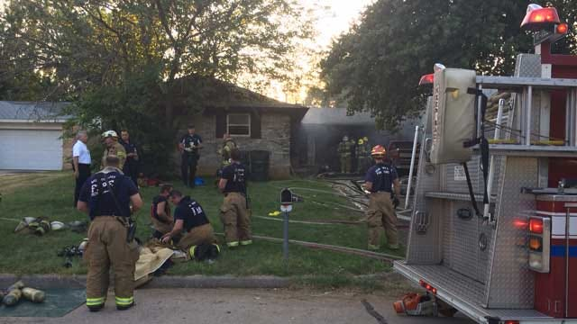Crews Respond To House Fire In MWC