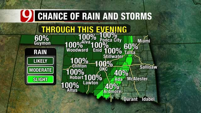 Rain, Cooler Temperatures Moving Into Oklahoma