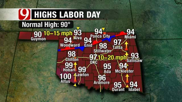 Humid, Windy Weather Continues Over Labor Day Weekend