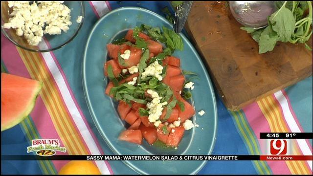 Watermelon Salad with Citrus Vinaigrette