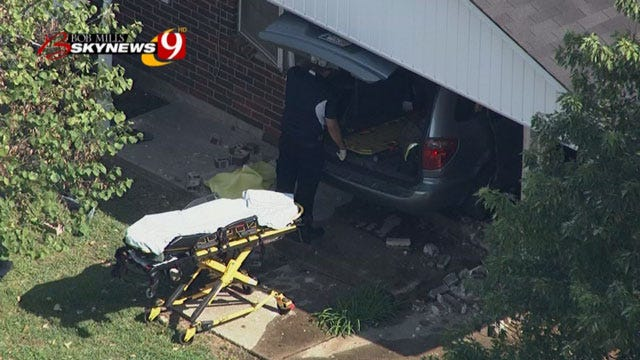 Driver Loses Control, Slams Into Midwest City Home