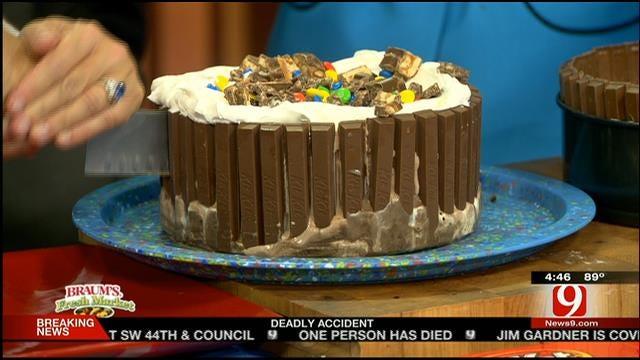 Candy Bar Ice Cream Cake