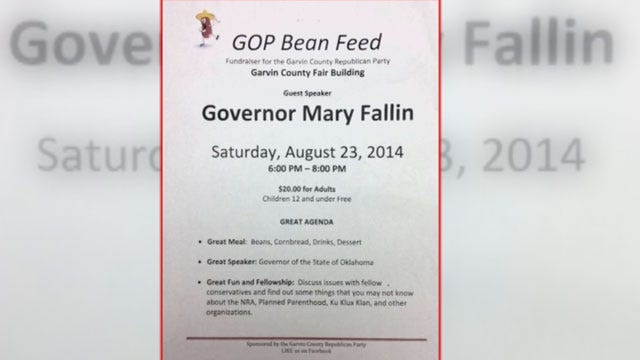 Garvin County GOP Event Sparks Controversy For Governor