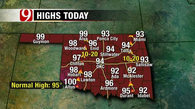 Isolated Thunderstorms Possible In Oklahoma On Wednesday