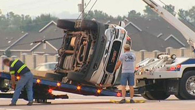 No One Injured After Vehicle Rolls Over On I-40 In SW OKC