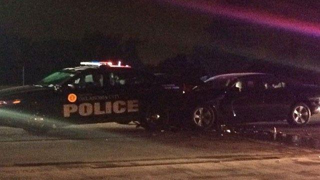 Alleged Drunk Driver Arrested After Crashing Into 2 OKC Police Cars